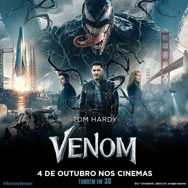 Venom o grande lançamento da Sony do mês de Outubro