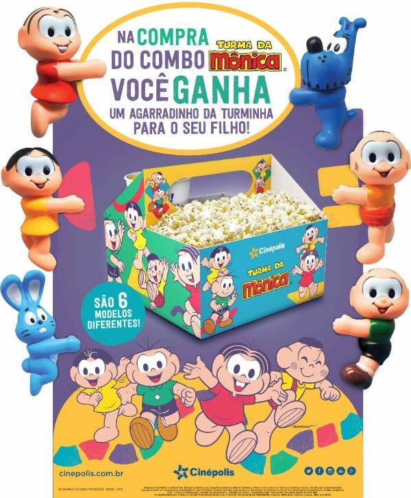 Cinépolis lança Combo Exclusivo da Turma da Mônica