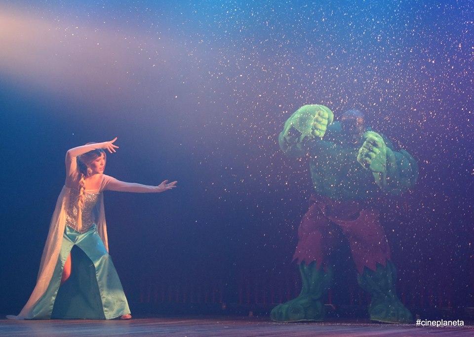 Princesas e Vingadores no Teatro Henriqueta Brieba