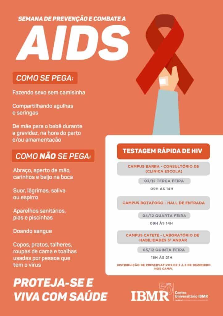 IBMR realiza semana de prevenção e combate ao HIV/Aids