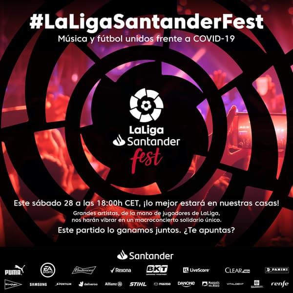 'LaLigaSantander Fest'une música e esporte para vencer o COVID-19