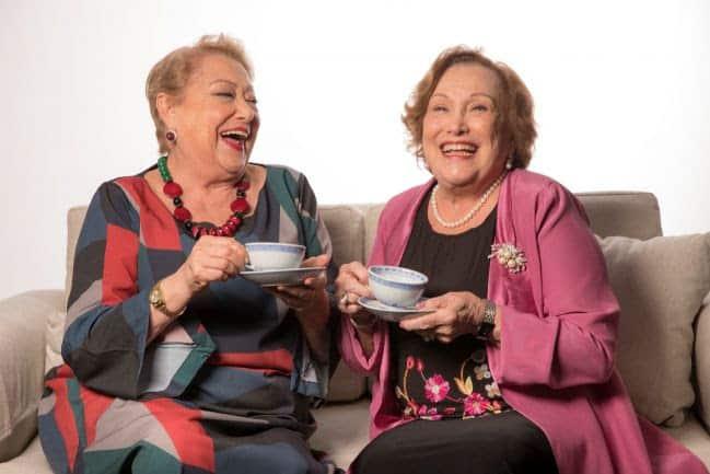 Nicette Bruno e Suely Francose encontram na comédiaQuarta-feira, sem falta, lá em casa