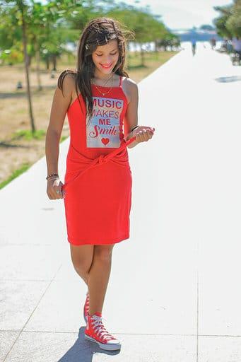 Nicole Mey no Show de Talentos do Cine Estrelas