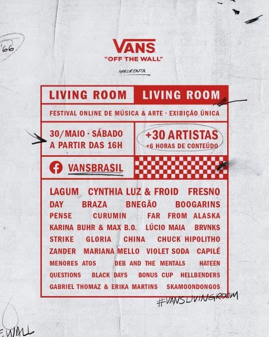 A Vans apresenta o festival online de música Vans Living Room