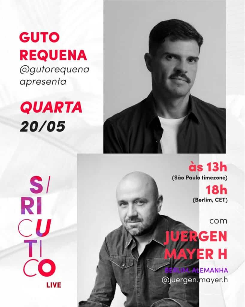 Guto Requena comanda live com o arquiteto alemão Juergen Mayer