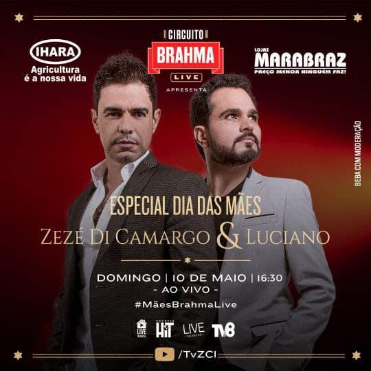 IHARA promove live de aniversário com Zezé Di Camargo & Luciano