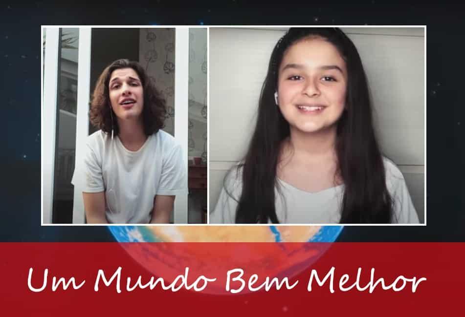 """Mafê Mossini e Gui Brumatti participam do clipe """"Um Mundo Bem Melhor"""""""