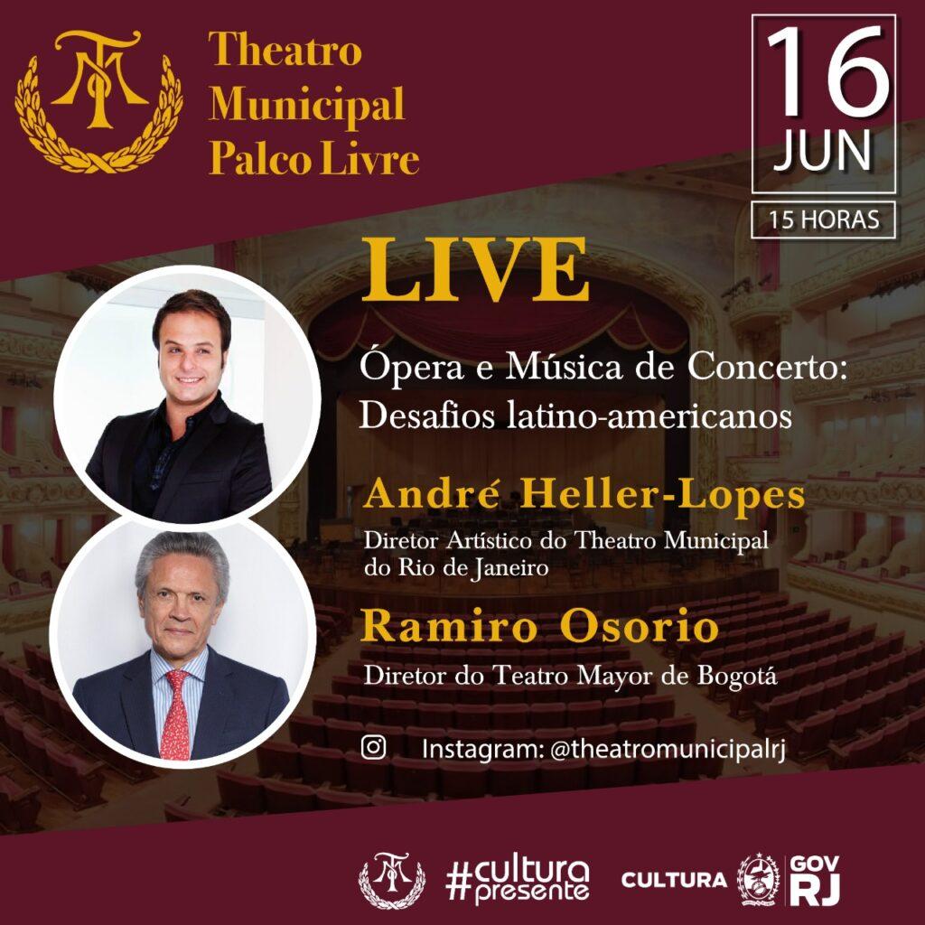 Theatro Municipal Palco Livre e Petrobras convidam André Heller-Lopes eRamiro Osorio