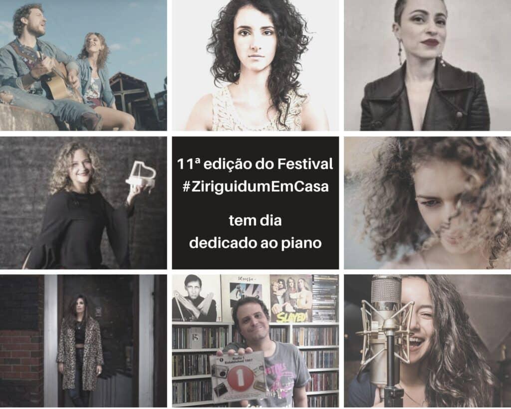11ª edição do Festival #ZiriguidumEmCasa tem dia dedicado ao piano