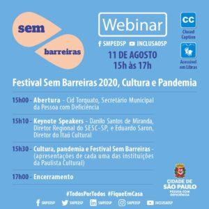 Festival Sem Barreiras 2020, Cultura e Pandemia