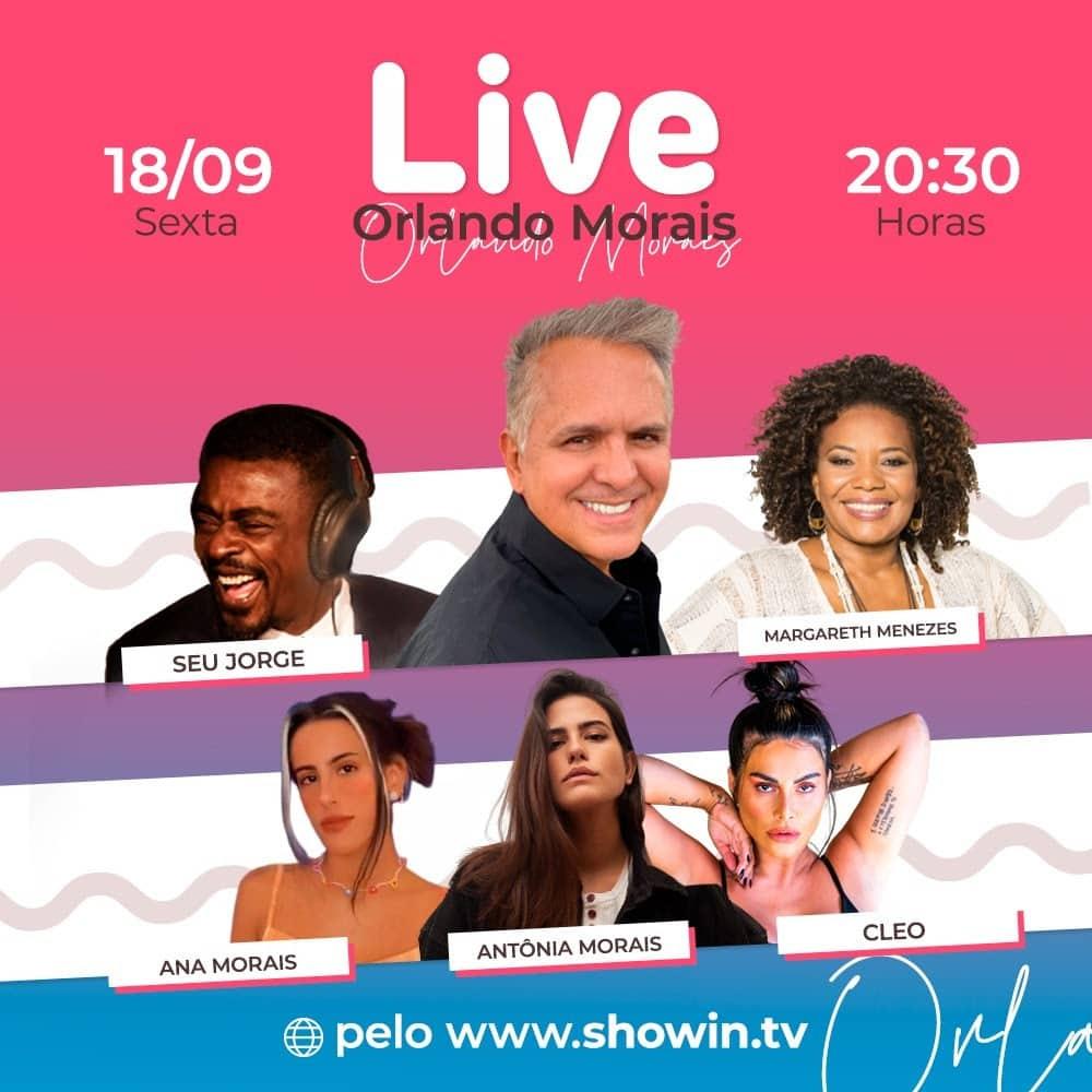 Orlando Morais lança a plataforma de transmissões ao vivo ShowIn com live repleta de convidados