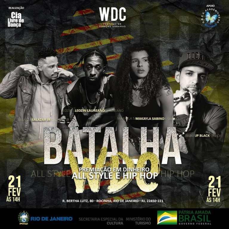 WDC FESTIVAL DE DANÇAS URBANAS EM VERSÃO COMPACTA NA ROCINHA