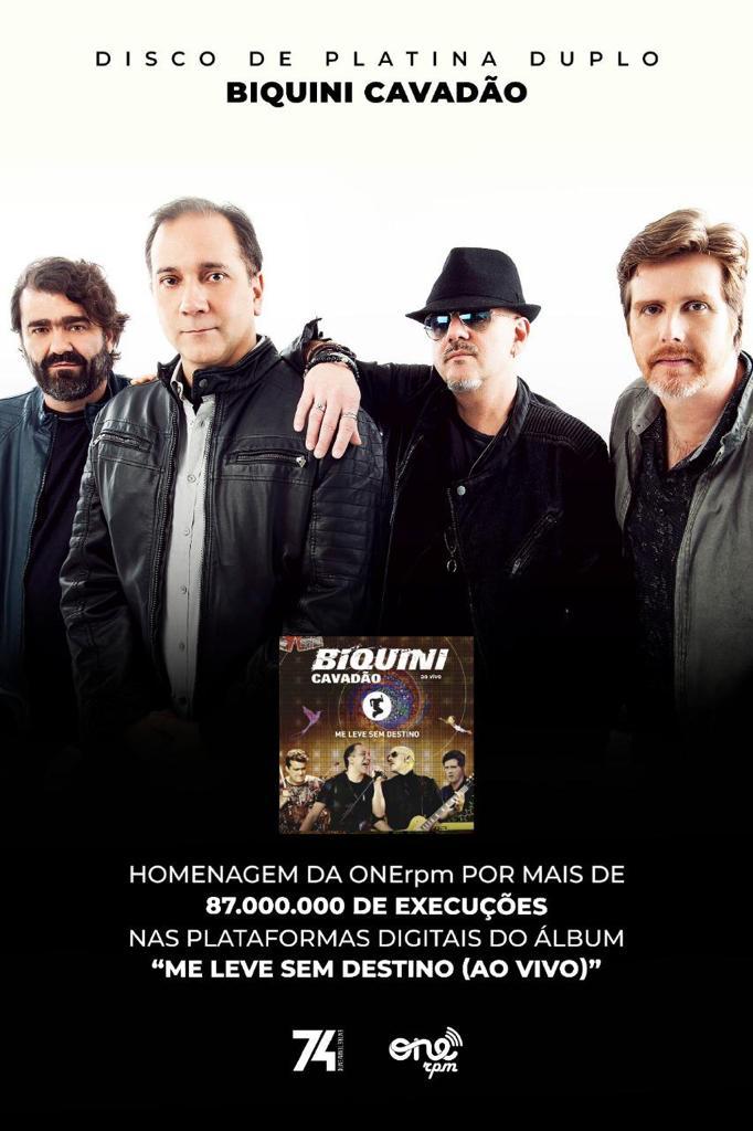 Biquini Cavadão celebra 36 anos de carreiracom disco de platina duplo enquanto grava novo disco de inéditas