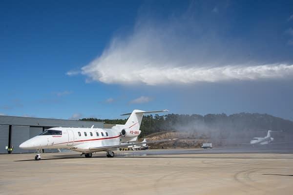 Amaro Aviation recebeu primeiro jato no Catarina Aeroporto