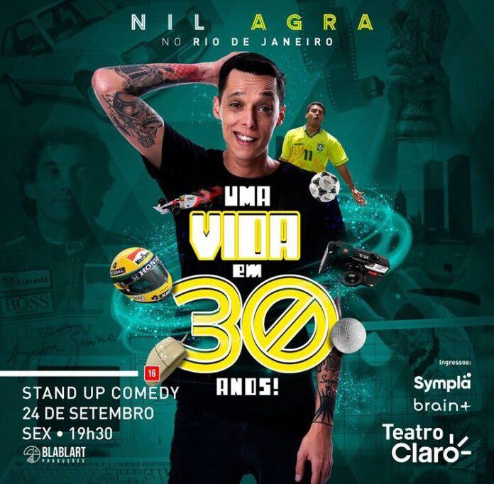Nil Agra apresenta show inédito no Teatro Claro Rio, em Copacabana